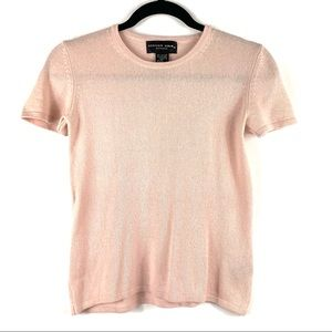 AUGUST SILK Petite Silk - Cashmere Pink Top